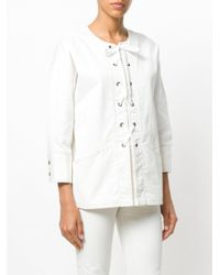 Tomas Maier - White Comfort Denim Tunic Top - Lyst