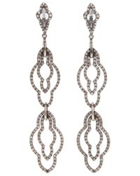 Loree Rodkin - Metallic Drop Diamond Earrings - Lyst