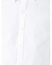 Kent & Curwen - White Mini Arrow Print Poplin Shirt for Men - Lyst