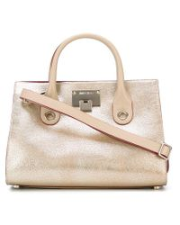 Jimmy Choo | Metallic Riley Tote Bag | Lyst