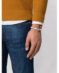 Eleventy - White Beads Charm Bracelet for Men - Lyst