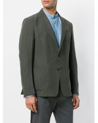 Z Zegna - Green Single Breasted Blazer for Men - Lyst