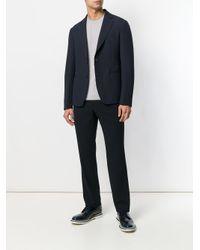Giorgio Armani - Multicolor Striped Design Fitted Sweater for Men - Lyst