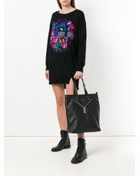 DIESEL - Black Zip-detailed Tote Bag - Lyst