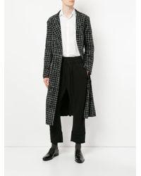 Haider Ackermann - Black Checked Coat for Men - Lyst