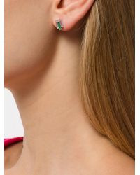V Jewellery - Green Chrysler Emerald Stud Earrings - Lyst
