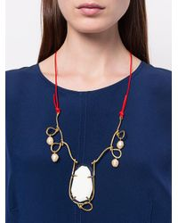 Marni - Metallic Twisted Wire Necklace - Lyst