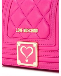 Love Moschino | Pink Quilted Crossbody Bag | Lyst
