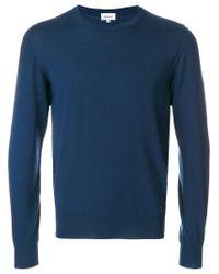 Brioni - Blue Crew Neck Jumper for Men - Lyst