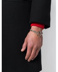 Alexander McQueen - Metallic Snake & Skull Bracelet for Men - Lyst