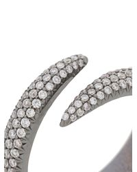 Eva Fehren - Metallic Pave Wrap Claw Ring - Lyst