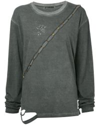 Hyein Seo - Gray Slash Longsleeved T-shirt - Lyst