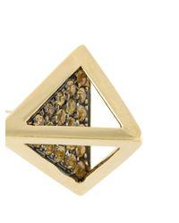 Noor Fares - Metallic Tetrahedron Stud Earrings - Lyst