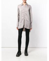 Yang Li - Gray Long Zipped Shirt - Lyst