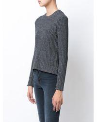 Jenni Kayne - Gray Chunky Knit Sweater - Lyst