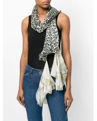 Forte Forte - Green Hanging Trim Printed Scarf - Lyst