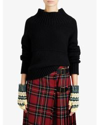 Burberry - Black Cashmere Roll-neck Sweater - Lyst