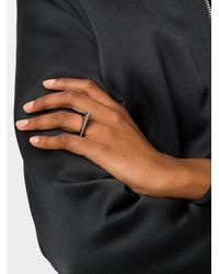Givenchy - Gray Jagged Ring - Lyst