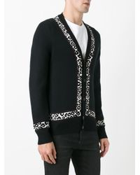 Alexander McQueen - Black V-neck Cardigan for Men - Lyst