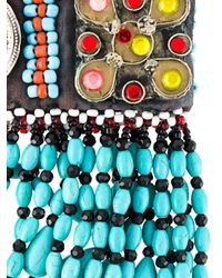 Night Market - Multicolor Beaded Choker Necklace - Lyst