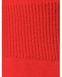 Moncler Grenoble - Red Bicolour Jumper - Lyst