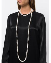 Night Market - White Long Pearl Necklace - Lyst