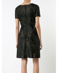 Notte by Marchesa - Black Embroidered Dress - Lyst