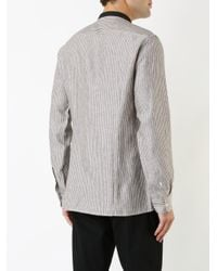 Raf Simons - Brown Striped Shirt for Men - Lyst