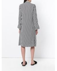 FEDERICA TOSI - Black Striped Midi Dress - Lyst