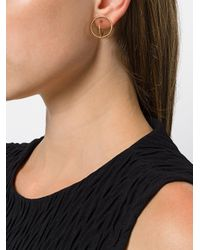 Charlotte Chesnais - Metallic Saturn Small Earrings - Lyst