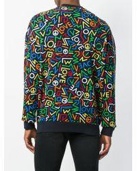 Love Moschino - Blue Logo Print Sweatshirt for Men - Lyst