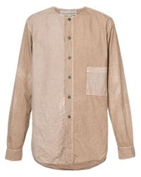 By Walid - Natural Faded Pocket Shirt for Men - Lyst