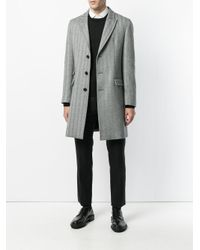 Neil Barrett - Black Chevron Print Coat for Men - Lyst
