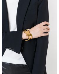Saint Laurent - Metallic Monogram Cuff - Lyst