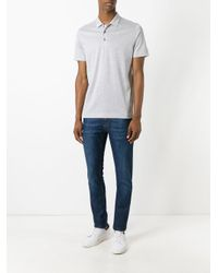 Canali | Gray Classic Polo Shirt for Men | Lyst