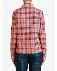 Burberry - Pink Beadwork Detail Check Shirt - Lyst