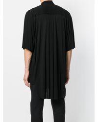 Unconditional - Black High Low Hem Shirt for Men - Lyst