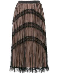 Twin Set - Black Tulle Layer Skirt - Lyst