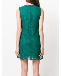 Dolce & Gabbana - Green Lace Mini Dress - Lyst