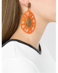 Camila Klein - Metallic Embellished Earrings - Lyst
