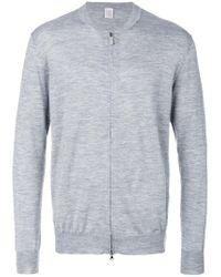 Eleventy - Gray Zip Up Cardigan for Men - Lyst
