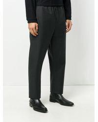 Stephan Schneider - Black Wide Leg Elasticated Trousers for Men - Lyst