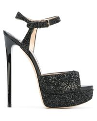 Jimmy Choo - Black Jenna 150 Sandals - Lyst