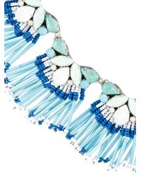 Rada' - Blue Fringed Short Necklace - Lyst