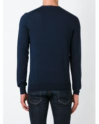 Paolo Pecora - Blue Crew Neck Sweater for Men - Lyst