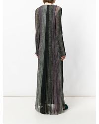Missoni - Multicolor Metallic Ribbed Long Dress - Lyst