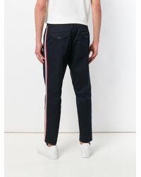 Moncler - Blue Single Pleat Track Pants for Men - Lyst
