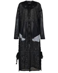 Faith Connexion - Black X Kappa Logo Print Hooded Mesh Coat - Lyst