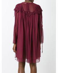Chloé - Purple Cherry Guipure Dress - Lyst