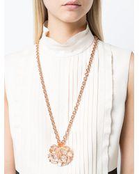 Oscar de la Renta - Multicolor Bold Flower Pendant Necklace - Lyst